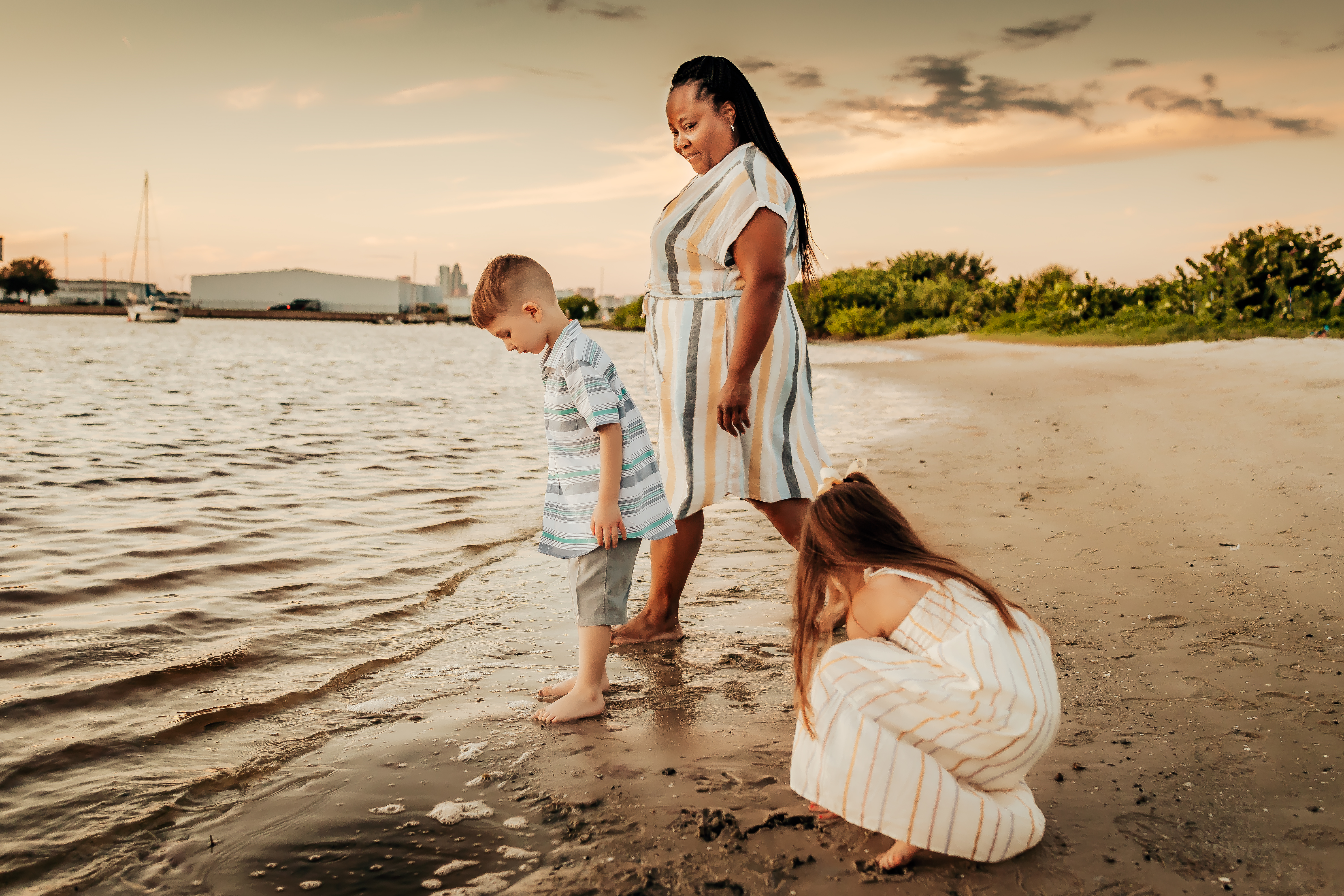 tampa fl beach family session