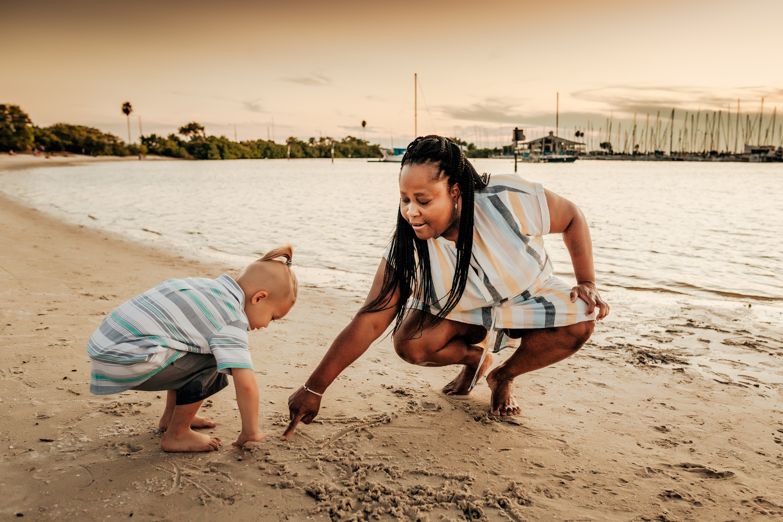 tampa florida beach family photography