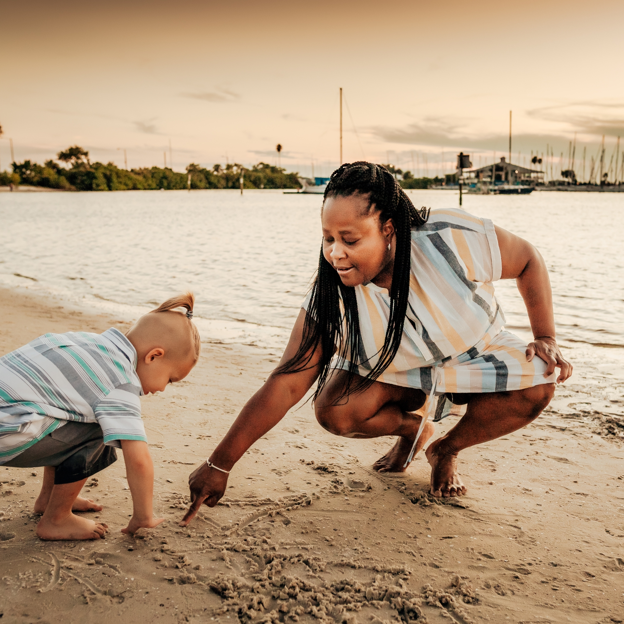 tampa florida beach family photography