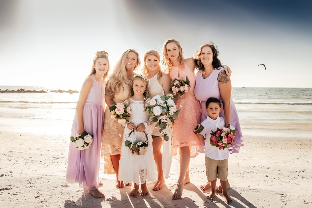 honeymoon island state park beach wedding photographer